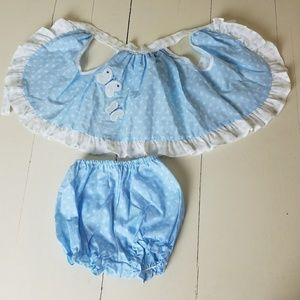 Vintage Smock And Bloomers Set